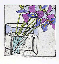 Some Iris by Penny Feder (Etching)