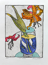 Two Lilies by Penny Feder (Etching)