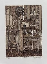 Larkin Study by Penny Feder (Etching)