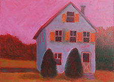 Orange Shutters by Penny Feder (Giclee Print)