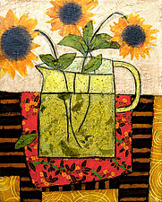 Three Sunflowers by Penny Feder (Giclee Print)