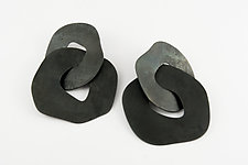 Large Steel Circle Posts by Maia Leppo (Steel Earrings)
