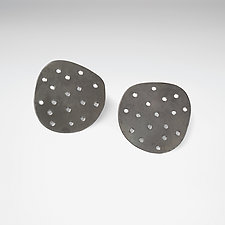Perforated Steel Posts by Maia Leppo (Steel Earrings)