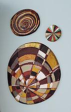 Layered Disks by Barbara Gilhooly (Mixed-Media Wall Sculpture)