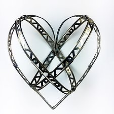 Cross My Heart by Barbara Gilhooly (Metal Wall Sculpture)