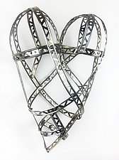 Medium Love So Strong Heart by Barbara Gilhooly (Metal Wall Sculpture)