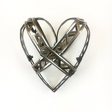 Baby Love Stay Strong Heart by Barbara Gilhooly (Metal Wall Sculpture)