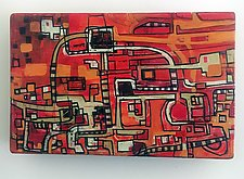Red Map by Barbara Gilhooly (Acrylic Painting)
