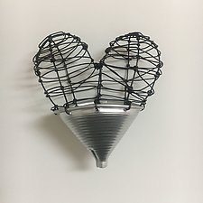 Funnel of Love Jr. by Barbara Gilhooly (Metal Wall Sculpture)