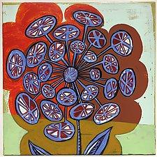 Bursting Bloomer by Barbara Gilhooly (Acrylic Painting)