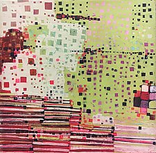 Squares and Stripes by Barbara Gilhooly (Acrylic Painting)
