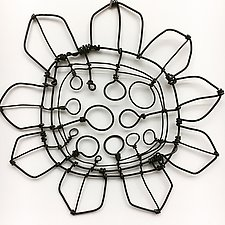 Wire Bloomer 1 by Barbara Gilhooly (Metal Wall Sculpture)