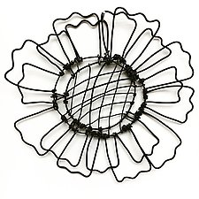 Wire Bloomer 2 by Barbara Gilhooly (Metal Wall Sculpture)