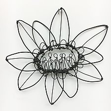 Wire Bloomer 5 by Barbara Gilhooly (Metal Wall Sculpture)