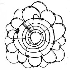 Wire Bloomer 7 by Barbara Gilhooly (Metal Wall Sculpture)