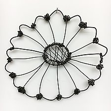 Wire Bloomer 8 by Barbara Gilhooly (Metal Wall Sculpture)