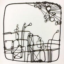 Wire Garden II by Barbara Gilhooly (Metal Wall Sculpture)