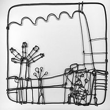 Wire Garden I by Barbara Gilhooly (Metal Wall Sculpture)