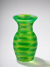 MiniMe Solid Vase Form #9 by Sidney Hutter (Art Glass Sculpture)