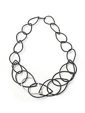 Eleanor Necklace by Megan Auman (Silver & Steel Necklace)