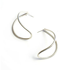 Large Curve Post Earrings by Megan Auman (Silver Earrings)