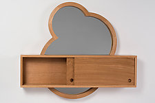 Crop Circles Mirror & Cabinet by Matt Hutton (Wood Cabinet)