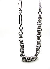 Volcanic Rolo Chain Link Necklace by Lauren Passenti (Silver Necklace)