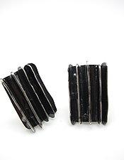 Five Lines Shield Earrings by Lauren Passenti (Silver Earrings)