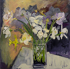 Daffodils 2015 by Lila Bacon (Acrylic Painting)