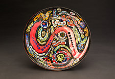 Multicolored Platter by Jean Elton (Ceramic Vessel)