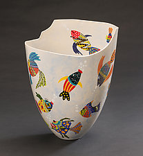 Whimsical Fish Vase by Jean Elton (Ceramic Vase)