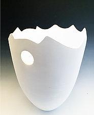 Sculpted Pristine Vase by Jean Elton (Ceramic Vase)