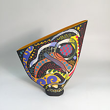 Small Prism Sailvase II by Jean Elton (Ceramic Vessel)