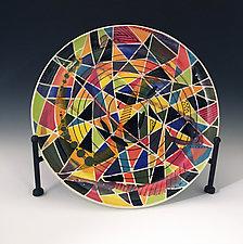 Geometric Platter by Jean Elton (Ceramic Platter)