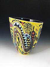 Bright Tall Vase by Jean Elton (Ceramic Vase)