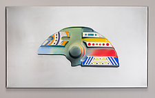 Mounted Multicolored Ceramic Wall Art V by Jean Elton (Ceramic Wall Sculpture)