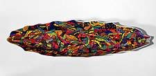 Multicolored Geometric Palm Vessel by Jean Elton (Ceramic Vessel)