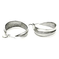 Leaf Hoop Earrings by Julie Cohn (Bronze Earrings)