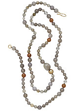 Slate Celestial Necklace by Julie Cohn (Bronze & Stone Necklace)