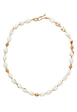 Robin's Egg Necklace by Julie Cohn (Stone & Glass Bead Necklace)