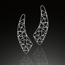 Triangle Jib Earrings by Nora Fischer (Silver Earrings)