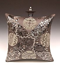 #1, Large Chocolate Standing Pillow by Darlene Davis (Ceramic Sculpture)
