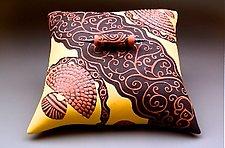 Scroll Pillow Box by Darlene Davis (Ceramic Sculpture)