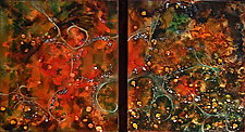 Changing Seasons Duet by Cynthia Miller (Art Glass Wall Sculpture)