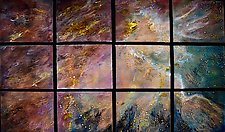 Starlight in 12 Panels by Cynthia Miller (Art Glass Wall Sculpture)