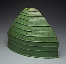 Louvered Vessel by Jonathan White (Ceramic Sculpture)