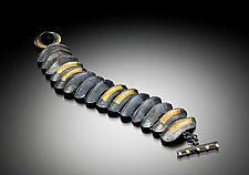 Ridge Bracelet by Lisa D'Agostino (Gold & Silver Bracelet)