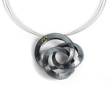 Triple Orbit Pendant by Lisa D'Agostino (Gold & Silver Necklace)