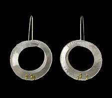 Orbit Drop Earrings by Lisa D'Agostino (Gold & Silver Earrings)