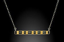 Horizontal Bar Pendant in Gold by Lisa D'Agostino (Gold & Silver Necklace)